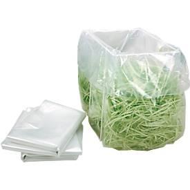 Sacs poubelles plastique pour destructeur de documents