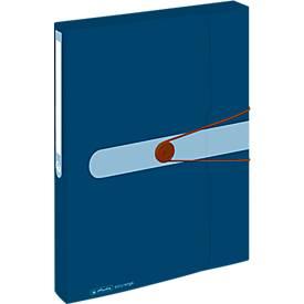 Sammelbox, A4, Recycling-PP-Folie, Gummizug & Verschlussknopf, dunkelblau