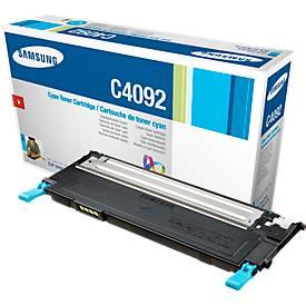 Samsung toner Samsung CLTC4092S ELS | C4092 Toner cyaan, 1.000 Paginas/5% voor Samsung CLP-310/N, CLP-...