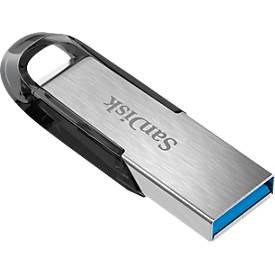 SanDisk USB-Stick Ultra Flair 3.0, Übertragung von bis zu 150 MB/s, Kapazität bis 124 GB