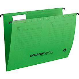 SCHÄFER SHOP Hängemappen, für Formate bis DIN A4, Öffnung seitlich, grün