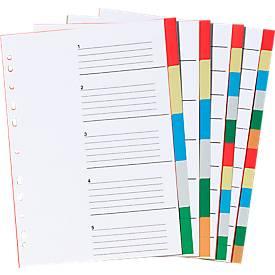 SCHÄFER SHOP PP-Farbregister DIN A4, zur freien Verwendung, 10 Stück