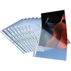 SCHÄFER SHOP Prospekthülle Standard, 0,08 mm, PP, oben offen, 100 Stück, glatt/klar