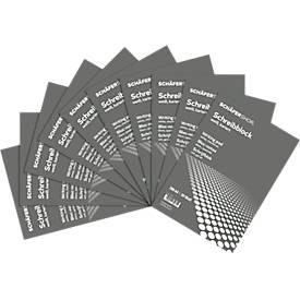 Schäfer Shop Pure  briefblok CLIP, A4, geruit, 10 stuks, wit