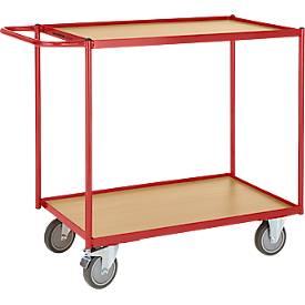 Schäfer Shop Pure Carrito de transporte con mesa con 2 niveles, 790 x 490mm