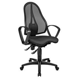 Schäfer Shop Pure Silla de oficina  BALANCE 400 NET, contacto permanente, con reposabrazos, asiento ortopédico Fitness negro