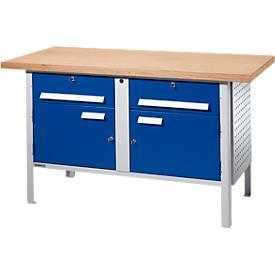 Schäfer Shop Select Werkbank PW 150-0, lichtgrijs/gentiaanblauw