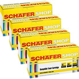 Schäfer Shop Sparpaket 4 Tonerkassetten TN-230 Serie cyan, magenta, gelb, schwarz