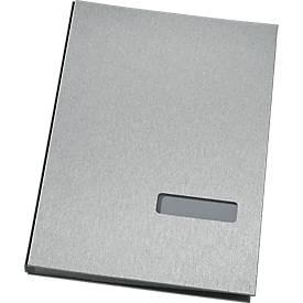 SCHÄFER SHOP vloeiboek, 20 vakken, zilvergrijs