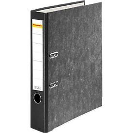 SCHÄFER SHOP Classeur à levier en papier marbré, avec étiquette collée, A4, 80/50 mm
