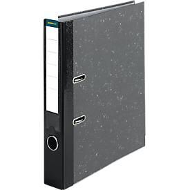 SCHÄFER SHOP classeur à levier en papier marbré, avec porte étiquette, A4, 80/50 mm