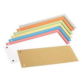 SCHÄFER SHOP Intercalaires de couleurs assorties en carton, 240 x 105 mm, 200 pièces