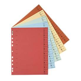 SCHÄFER SHOP Intercalaires lignés en carton, A4,  avec onglets à découper