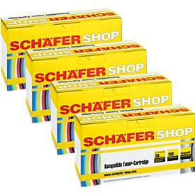 Schäfer Shop Sparpaket 4 Tonerkasetten baugleich Q6000/01/02/03A, cyan, gelb, magenta, schwarz