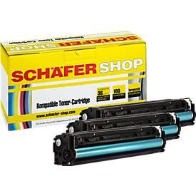 Schäfer Shop Sparset 3x Toner baugleich HP 125e...