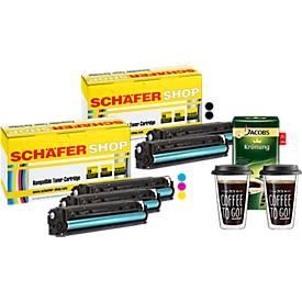 Schäfer Shop Sparset, 5 Toner HP 125er + 2 Ther...