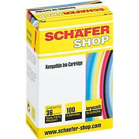 Schäfer Shop Tintenpatrone baugleich mit CLI-551 BK XL, schwarz