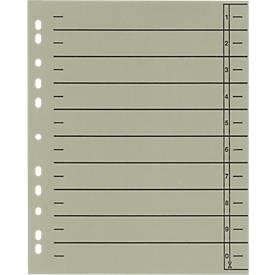 SCHÄFER SHOP Trennblätter mit Taben, DIN A4, Linienaufdruck, 100 Stück