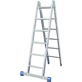 Scharnierende dubbele ladder, 2 x 6 sporten