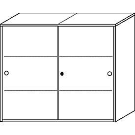 Schiebetüren-Schrank ALMONDO, 3 OH, 4 Böden, H 1075 x B 1200 x T 420 mm