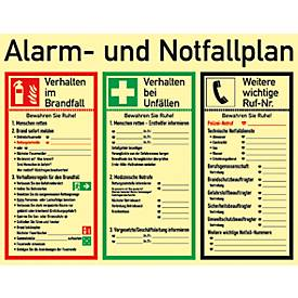 """Schild """"Alarm- und Notfallplan"""""""