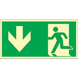 "Schild ""Rettungsweg durch Ausgang"""