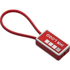 Schlüsselanhänger Sisimiut, aus Metall und Kunststoff, L 84 x B 28 x H 11 mm