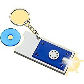 Schlüsselanhänger Spotlight, mit herausnehmbarem Einkaufswagenchip