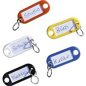 Schlüsselanhänger und Kennringe,15-teilig
