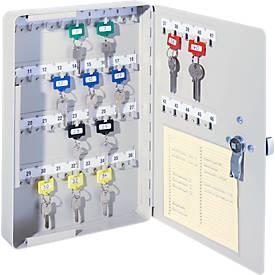 Schlüsselschrank, Elektronikschloss, 46 Haken, B 240 x T 40 x H 340 mm