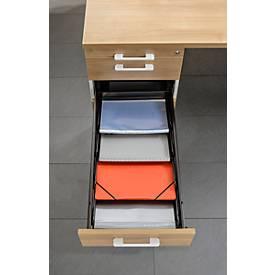 Schrägablage BARI, für Roll-/Anstellcontainer, für A4, verstellbar, 4 Stück