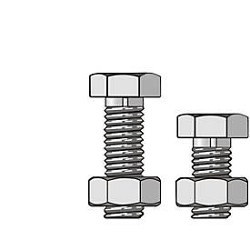 Schrauben und Muttern, M8 x 16, 50 Stück