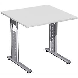 Schreibtisch ALICANTE, C-Fuß, Rechteck, B 800 x T 800 x H 680 - 820 mm