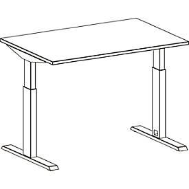 Schreibtisch LOGIN, elektrisch höhenverstellbar, T-Fuß-Gestell