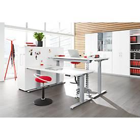 Schreibtisch MODENA FLEX, elektr. höhenverstellbar, T-Fuß, B 1200 - 1800 mm, T 800 mm