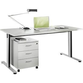 Schreibtisch PARGOXX, C-Fuß, Rechteck, B 1200 - 1600 x T 800 x H 720 mm