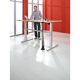 Schreibtisch Standard, C-Fuß, Rechteck, elektrisch höhenverstellbar, B 1800 mm