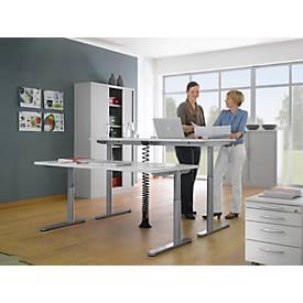 Schreibtisch TRENTEC, Rundrohr, elektrisch höhenverstellbar, B 1600 oder 1800 mm