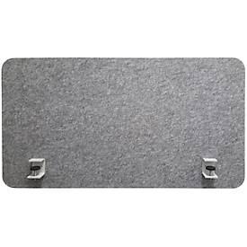 Schreibtischaufsatz Akustik to go 3000 silent.desk, Flyby, B 1800 x H 650 mm, Absorberklasse C