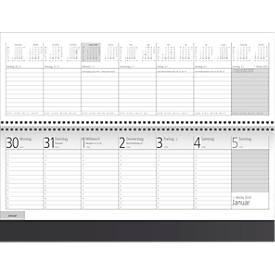 Schreibtischquerkalender Project, schwarz, 128 Seiten, deutsches Kalendarium