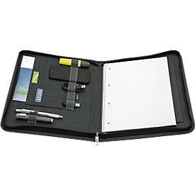 schrijfkoffer COLLEGE, A4, polyester, voor standaard & college pads, met rits