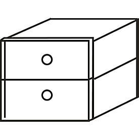 Schubkasten-Set ALMONDO, für Regal 3/6 Ordnerhöhen B 400 mm, B 362 x T 340 x H 331 mm