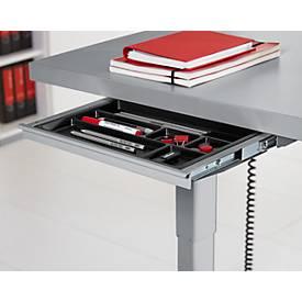 Schublade, für elektrisch höhenverstellbaren Schreibtisch Elements, B 434 mm, silber