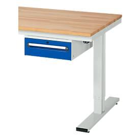 Schubladenblock, 1 Schublade, für Arbeitstische Serie adlatus 300, Tragkraft 35 kg