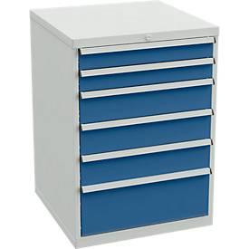 Schubladenblock für Arbeitstische mit 715 mm Breite