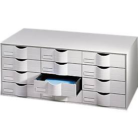 Schubladenbox, 12 oder 16 Schübe, Polystyrol