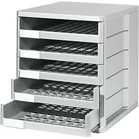 Schubladenbox, 5 Schübe, DIN A4, Polystyrol