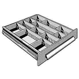 Schubladeneinsatz mit 15 Fächern