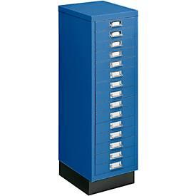 Schubladenschrank DIN A4, mit 15 Schubladen, 940 mm hoch
