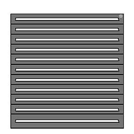 Schubladenschrank, für Regalsystem R 2000, 10 x H 90 mm + 1 x H 120 mm